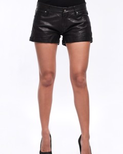 Lamb Leather Short - Black