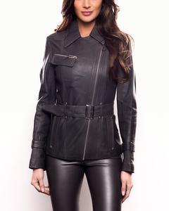 Lamb Leather Jacket - Grey