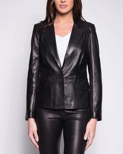 Lamb Leather Jacket - Black