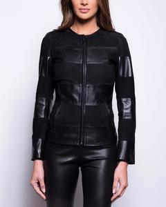 Bi-material Jacket - Black