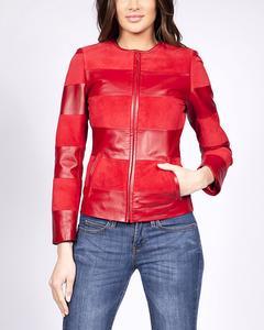 Bi-material Jacket - Red