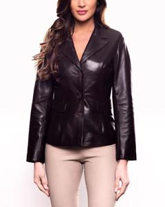 Lamb Leather Jacket - Brown