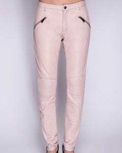 Lamb Leather Pants - Pink