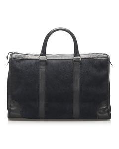 Dior Dior Oblique Suede Boston Bag Blue
