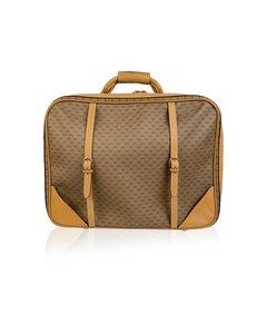 Gucci Vintage Beige Monogram Canvas Cabin Size Suitcase Travel Bag
