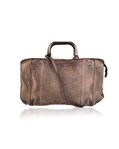 Numero 10 Beige Antiquated Leather Cassandra Tote Bag