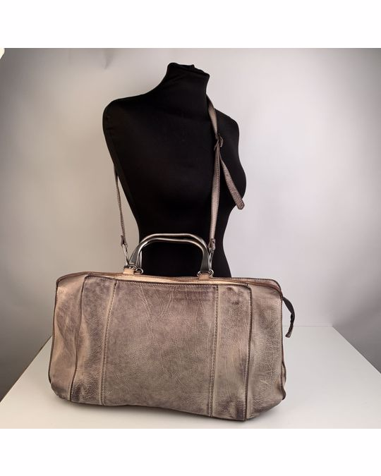 Other Numero 10 Beige Antiquated Leather Cassandra Tote Bag