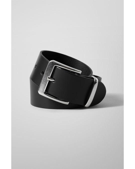 Weekday Less Leather Belt Black