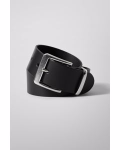 Less Leather Belt Black