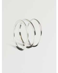 Vertigo Silver Ring Set Silver