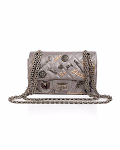Chanel Silver Tone Quilted Leather Lucky Charms 2.55 Reissue Flap Bag
