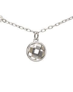 Dior Ribbon Pendant Necklace Silver