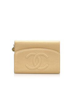 Chanel Cc Caviar Leather Wallet Brown