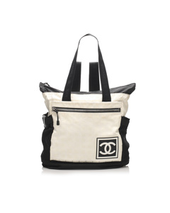 Chanel New Travel Line Sports Nylon Backpack White