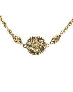Chanel Cc Matelasse Necklace Gold