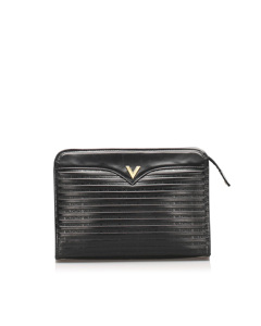 Valentino Leather Clutch Bag Black