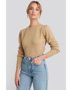 Puff Sleeve Sweater Camel