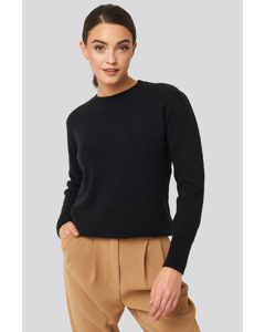 Puff Sleeve Sweater Deep Black