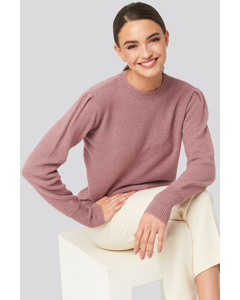 Puff Sleeve Sweater Dusty Pink