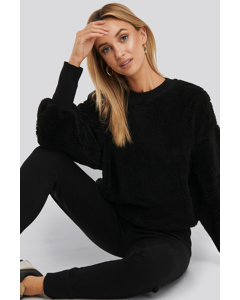 Oversized Teddy Sweatshirt Black