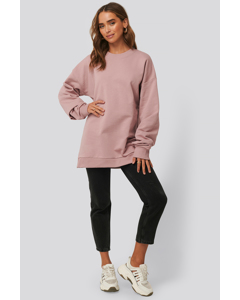 Oversized Crewneck Sweatshirt Dusty Pink Rose