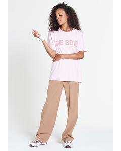 Ce Soir - T-shirt Med Tryck - Rosa