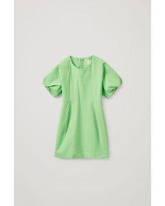 Puff Sleeve Dress Green
