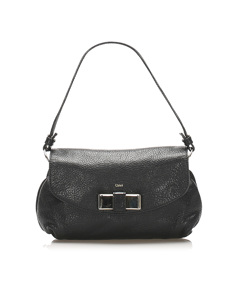 Chloe Lily Leather Satchel Black