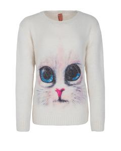 Mädchen Flauschpullover CAT FACE