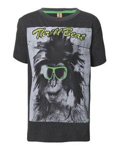 Jungen T-Shirt Monkey Glass