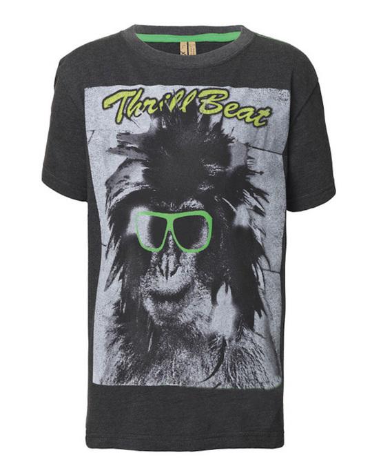 Streetkids Jungen T-Shirt Monkey Glass