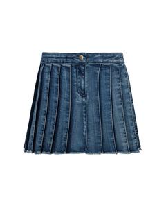 Mädchen Jeans Faltenrock