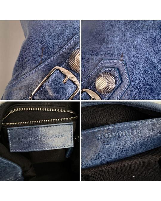 Balenciaga Balenciaga Blue Leather Crossbody Bag Mod: Besace