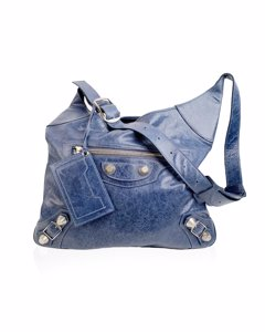 Balenciaga Blue Leather Crossbody Bag Mod: Besace