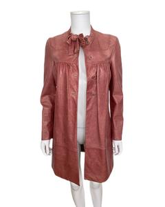 Vintgae Leather Coat Miu Miu
