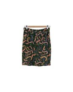 Valentino Vintage Blue Fabric Skirt Mod: Skirt