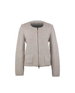 Amina Rubinacci Gray Wool Sweater Mod: Cardigan
