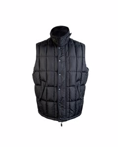 Alberto Aspesi Black Men Sleeveless Jacket Padded Down Vest Size Xl
