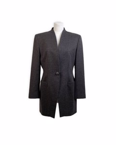 Les Copains Vintage Gray Wool And Cashmere Blazer Jacket Size 42
