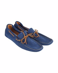 Steve Madden Blue Suede Shoes Loafers Mod: Portola Loafers