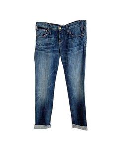 Current/elliot Blue Denim Cotton The Rolles Jeans Trousers Size 26