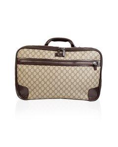 Gucci Monogram Canvas Web Suitcase Travel Bag Cabin Size