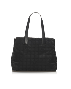 Chanel New Travel Line Nylon Tote Bag Black