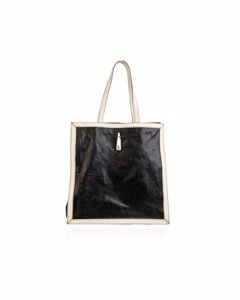 Yves Saint Laurent Black Leather Tote Bag Mod: Walky Bag