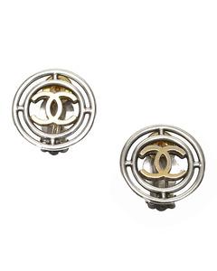 Chanel Cc Clip-on Earrings Silver