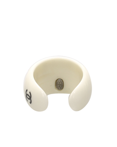 Chanel Coco Resin Ring White