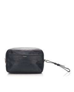 Ysl Leather Clutch Bag Blue