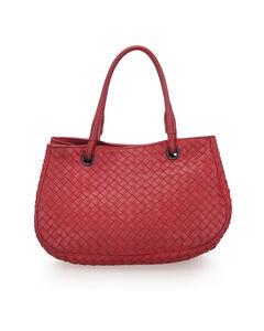 Bottega Veneta Intrecciato Leather Handbag Red