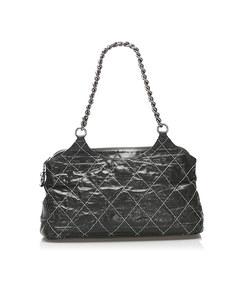 Chanel Wild Stitch Leather Shoulder Bag Black