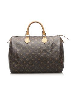 Louis Vuitton Monogram Speedy 35 Brown